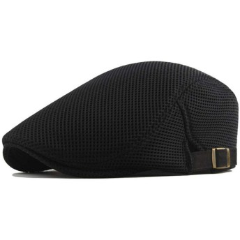 HVTKLN 新しいメンズファッションカジュアル帽子キャスケット帽子範囲太陽の帽子キャスケットを駆動する固体タクシードライバーゴルフ HVTKLN (Color : Black, Size : Adjustable)