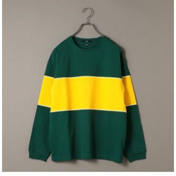 【SHIPS:トップス】SU: ビッグ パネル ヘビーウエイト ロングスリーブ Tシャツ