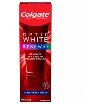 【最新版】コルゲート Colgate オプティックホワイト リニュー ホワイトニング 歯磨き粉 ハイインパクト ホワイト 85g Optic White Renew