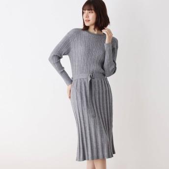 SHOO・LA・RUE/Mrs.(シューラルー)/リブ切り替えプリーツテイストワンピース