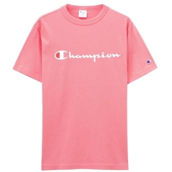 【25%OFF】 マックハウス Champion チャンピオン プリントTシャツ C3 P302 メンズ ピンク M 【MAC HOUSE】 【タイムセール開催中】