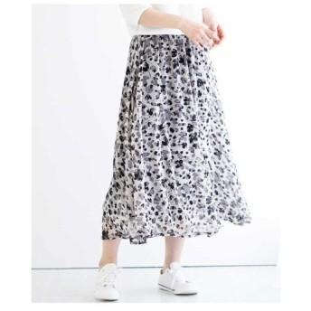 MK MICHEL KLEIN / 【洗濯機で洗える】花柄マキシスカート