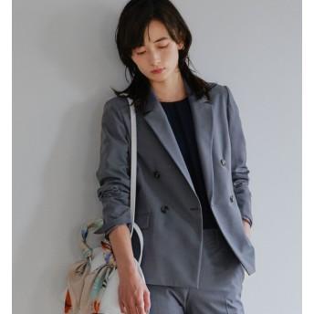【グリーンレーベルリラクシング/green label relaxing】 [手洗い可能/ピケ] ◆D ダブル テーラード ジャケット ◇No11◇
