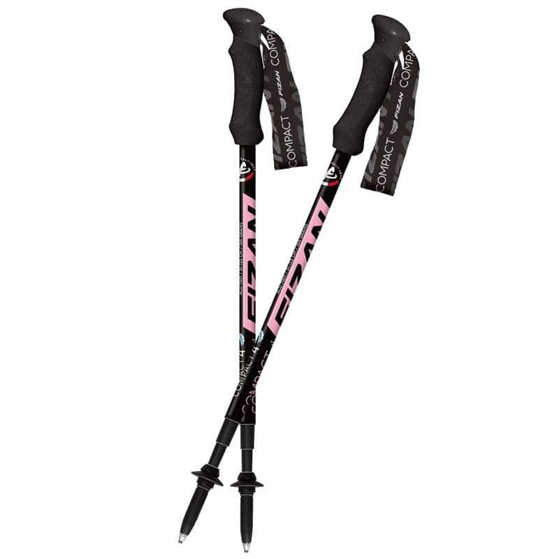 超輕四節式健行登山杖2入特惠組 粉紅FZS20.7106.PINK