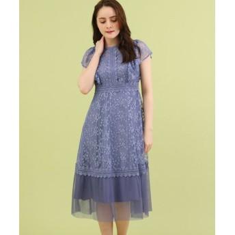 Bon mercerie/ボン メルスリー Dorry Doll チュール刺しゅうレースドレス ブルー(092) 38