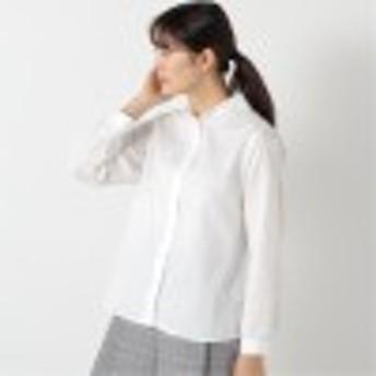 春の花粉対策に 防花粉加工の丸襟シャツ【M~3L】