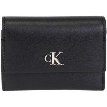 《セール開催中》CALVIN KLEIN JEANS レディース 財布 ブラック ポリウレタン 100% CKJ MONO HARDWARE