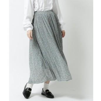 【レイカズン/RAY CASSIN】 総柄消しプリーツスカート