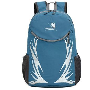 ハイキングバックパック 折りたたみハイキングバックパック旅行ハイキングキャンプキャンプ中立多機能ラップトップバッグ 旅行用キャンプ屋外バックパック (Color : Blue)