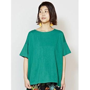 【チャイハネ】yul 無地スラブプレーンTシャツ グリーン