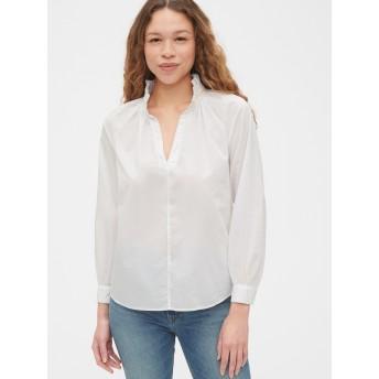 Gap テンセル™ ラッフルポップオーバーシャツ
