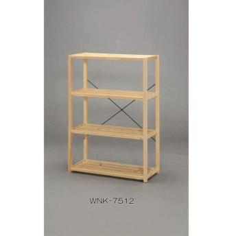 アイリスオーヤマ ウッディラック 木製ラック クリア WNK-7512