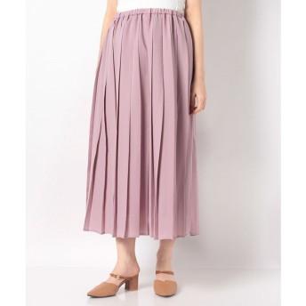 テチチ 【Lugnoncure】スポンジジョーゼットプリーツスカート(ピンク)