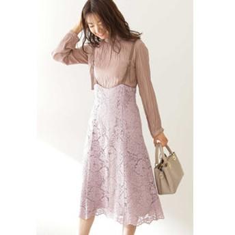 【PROPORTION BODY DRESSING:ワンピース】◆コードレースジャンパースカート
