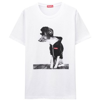 マックハウス T GRAPHICS Simplify プリントTシャツ EJ193 MC139 メンズ ホワイトB L 【MAC HOUSE】