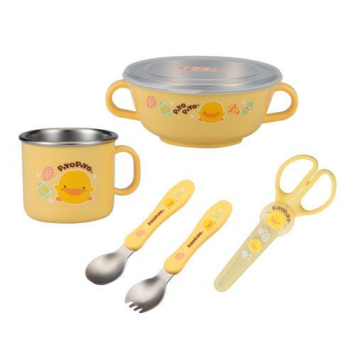 Piyo Piyo黃色小鴨 不鏽鋼隔熱餐具組