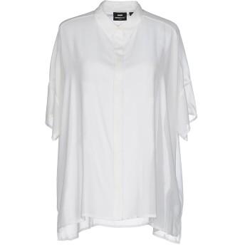 《セール開催中》DR. DENIM JEANSMAKERS レディース シャツ ホワイト L ポリエステル 100%