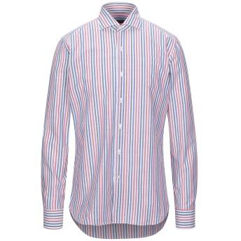 《セール開催中》GHIRARDELLI メンズ シャツ ライトパープル 40 コットン 100%