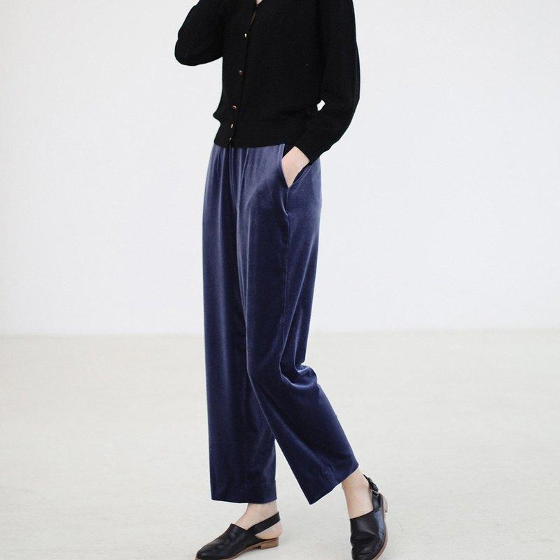 KOOW  一條垂順絲滑的天鵝絨褲子 絲絨直筒褲 復活新色