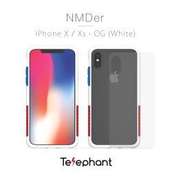 太樂芬Telephant iPhone X/XS  抗汙防摔手機殼-白OG