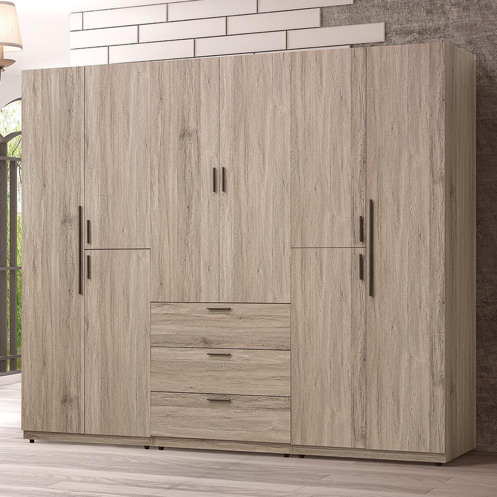 【YoStyle】瓊安娜7.5尺大衣櫃