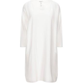 《セール開催中》MOTEL レディース ミニワンピース&ドレス ホワイト one size コットン 100%