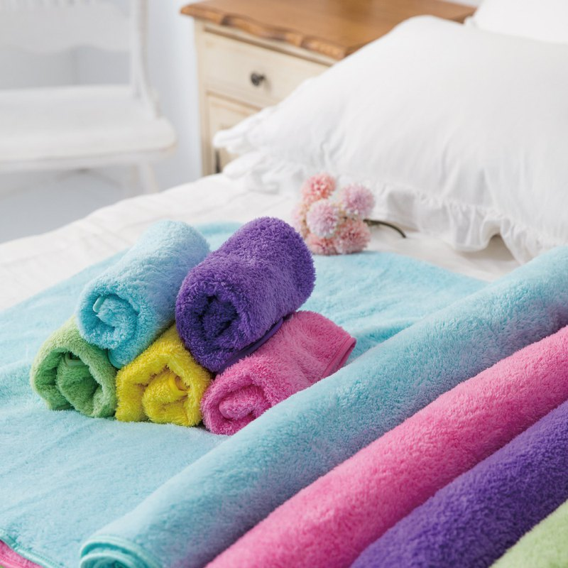 Lovel 超強吸水輕柔微絲多層次開纖紗擦髮巾/枕巾 - 共8色