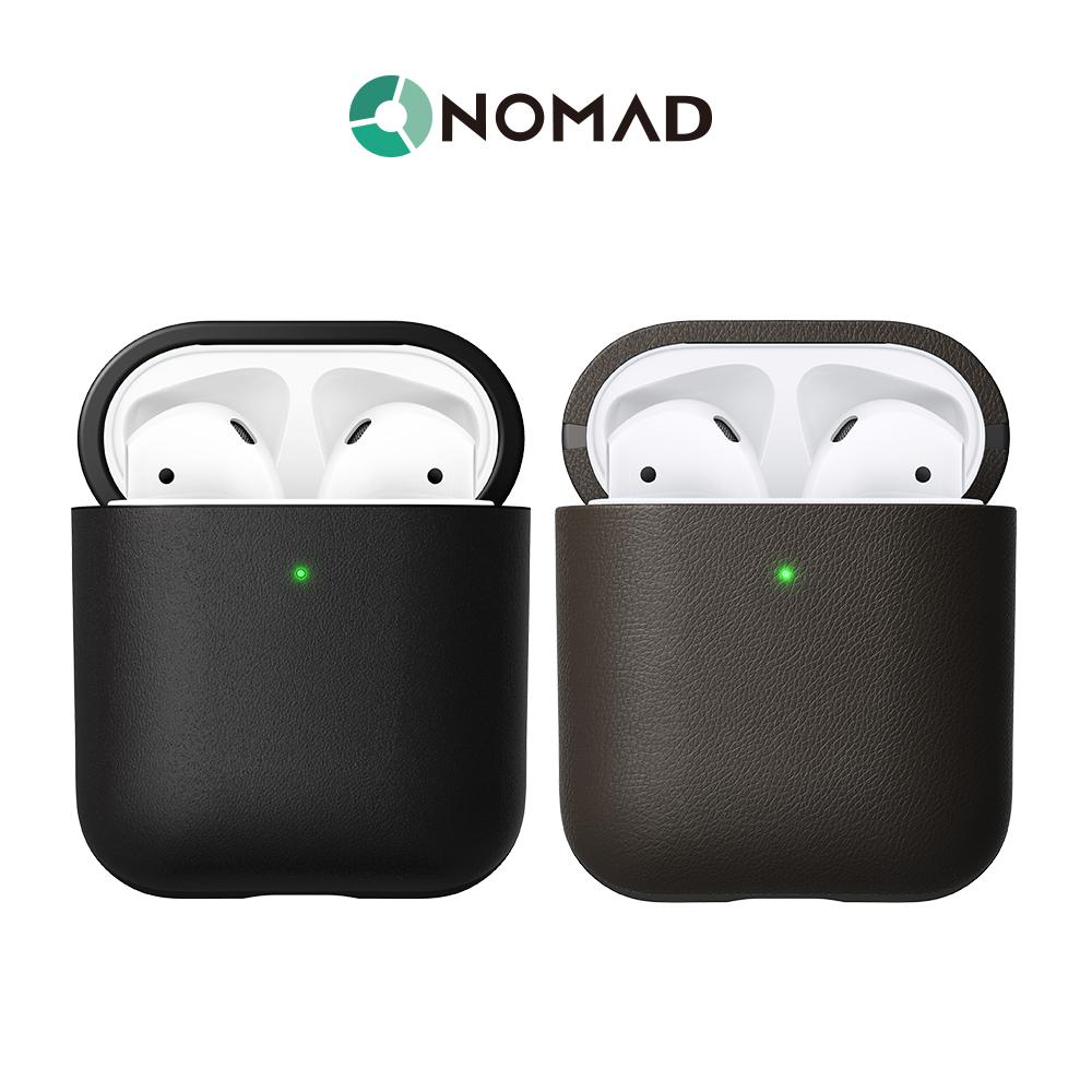 美國NOMAD AirPods (第2代)專用防水機能皮革保護收納盒