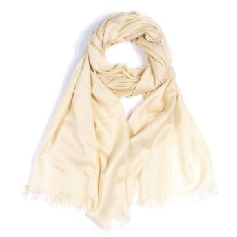 SELON レディース 薄いスカーフ UVカット ストール 100%ソフトアクリル 検針完了 (黄色い)