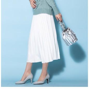 【J Lounge:スカート】スエードプリーツスカート