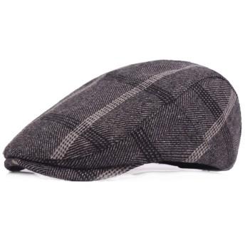 メンズベレー帽 メンズレトロカジュアルフラットキャップアイビーギャツビーハットアウトドアバイザーフォワードハット 紳士 ベレー帽 (Color : Light gray, Size : Free size)
