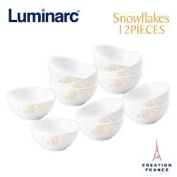 【Luminarc 樂美雅】雪花12入餐碗組(ARC-1201-SF)