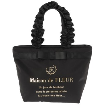 【メゾンドフルール/Maison de FLEUR】 ブランドロゴフリルハンドルトートSバッグ