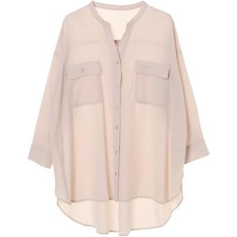 【6,000円(税込)以上のお買物で全国送料無料。】ジョーゼットロングシャツ