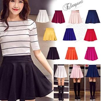フレアスカート ミニスカート ハイウエスト skirt レディース 無地スカート 10色 M-5XL