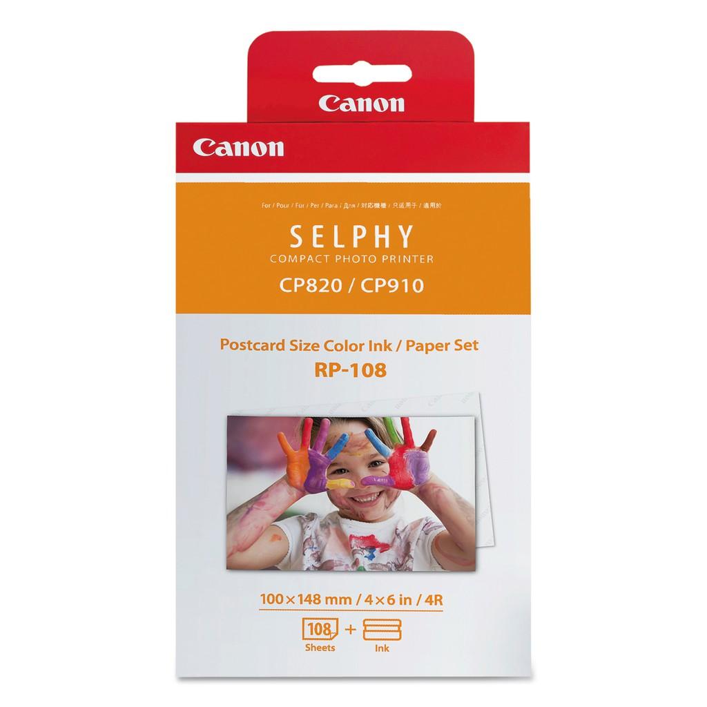 CANON RP-108 4X6吋相片紙 108張 適用CP1200/CP1300 含墨盒 現貨 相紙
