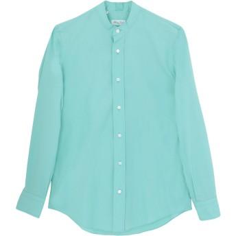 《セール開催中》SALVATORE PICCOLO メンズ シャツ ライトグリーン 38 コットン 100%
