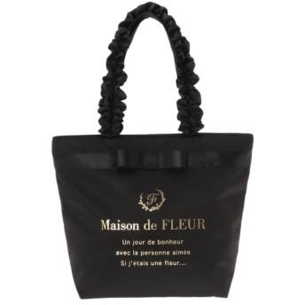 【メゾンドフルール/Maison de FLEUR】 ブランドロゴフリルハンドルトートMバッグ