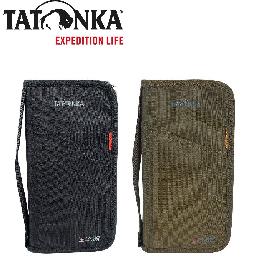 [ TATONKA ] 防REID 證件拉鍊錢包 黑 橄欖綠 / 皮夾 長夾 / 公司貨 TTK2957