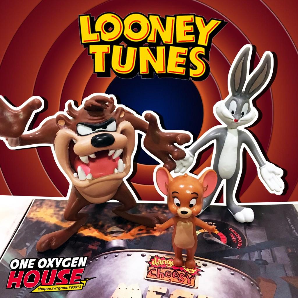 美國 絕版 LOONEY TUNES 樂一通 兔巴哥 大茲 TAZ 傑利鼠 可動 軟絲 玩具 公仔 擺件 貓跟老鼠