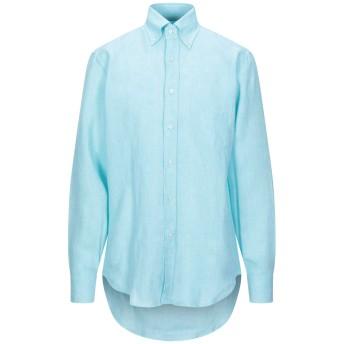 《セール開催中》DSIRE メンズ シャツ ライトグリーン M リネン 100%