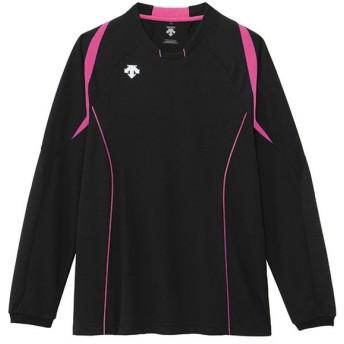 デサント(DESCENTE) L/S LIBHT GAME SHIRT  長袖ライトゲームシャツ ブラック/ピンク