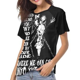 ベーシックTシャツ レディース 半袖 The Nightmare 悪夢 シンプル カジュアル ショートスリーブカ クルーネック 快適 吸汗速乾 夏 ベースボールウェア