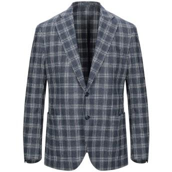 《セール開催中》L'8 BY LUBIAM メンズ テーラードジャケット ブルー 52 ウール 51% / コットン 30% / ナイロン 19%