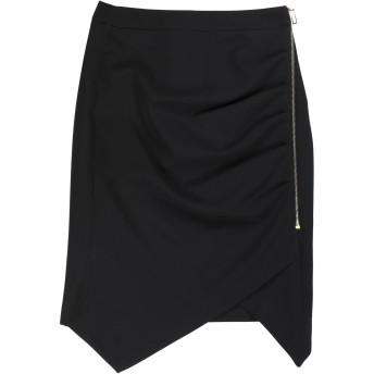 《セール開催中》ALMAGORES レディース ひざ丈スカート ブラック 38 ポリエステル 89% / ポリウレタン 11%