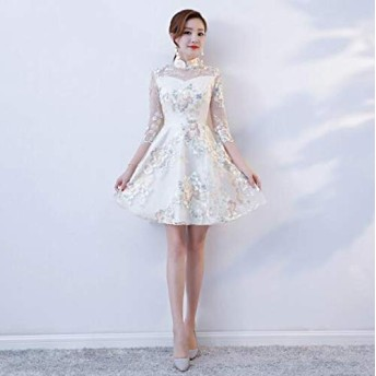 XLEIYI 女子の改善チャイナドレス女性の夏新唐ドレス漢服女性のレトロスタイルのファッションガールドレスコスチュームドレス (色 : Style one, サイズ : M)