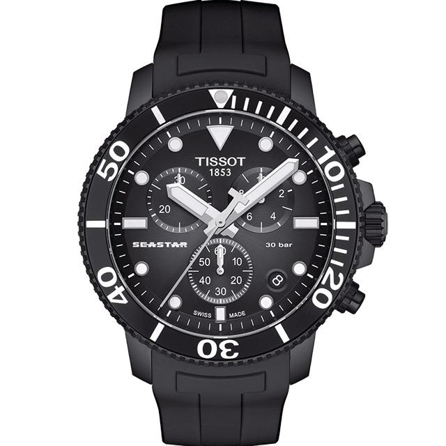 TISSOT天梭Seastar海星300米潛水錶(T1204173705102)