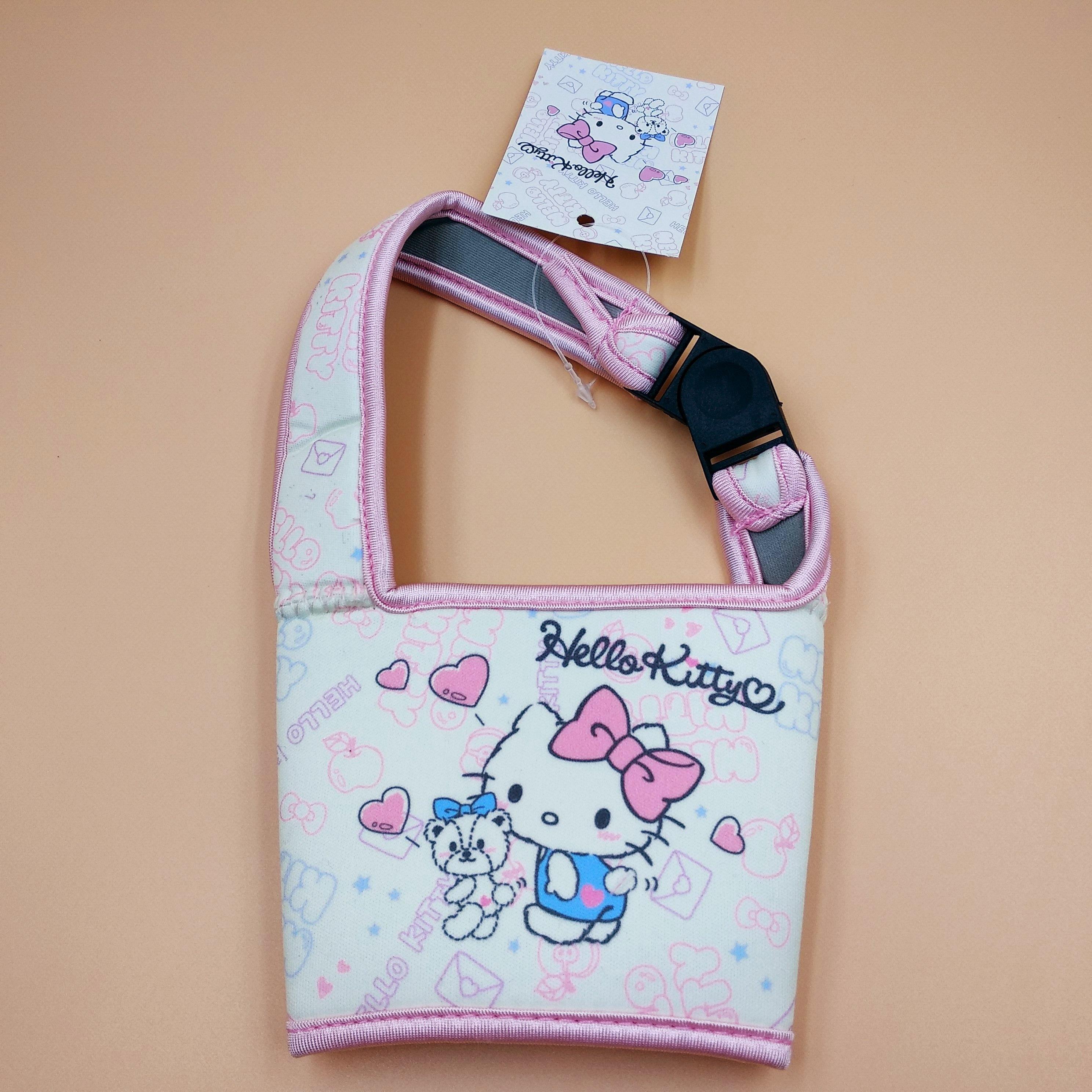 正版現貨 HELLO KITTY 環保飲料杯套袋 珍珠奶茶 咖啡杯 卡扣式 手提飲料袋
