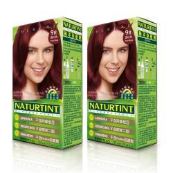 【NATURTINT 】赫本染髮劑-酒紅色9R(155ml)X2件組