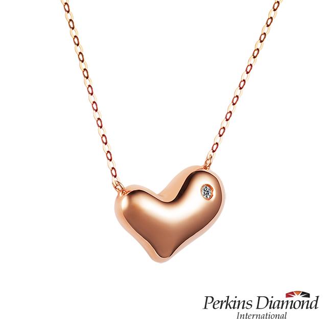 鑽石項鍊 PERKINS 伯金仕 My Heart系列 18K玫瑰金鑽石項鍊